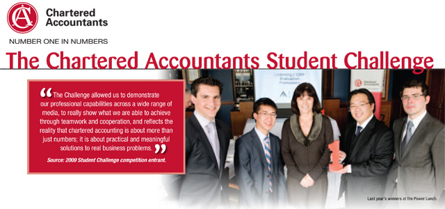 The Institute of Chartered Accountants in Australia: Bringing experience to future leaders: the Student Challenge: