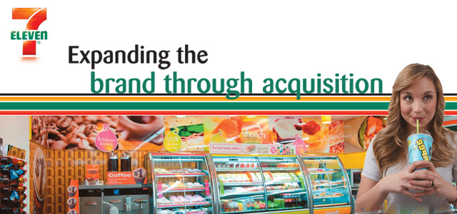 7 eleven - Expanding the brand through acquisition